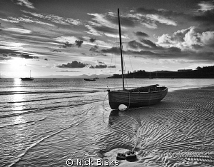 Low tide at Abersoch, North Wales by Nick Blake 